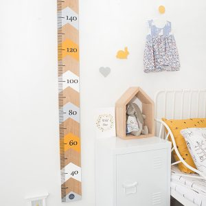 Baby room decor mustard growth chart