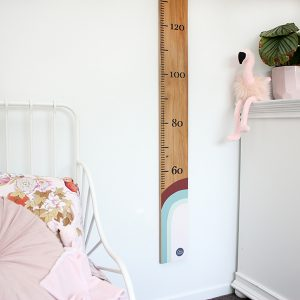 wooden child's height ruler